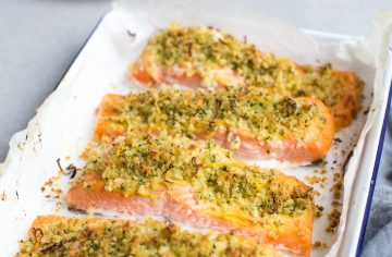 Herb-Crusted Baked Salmon